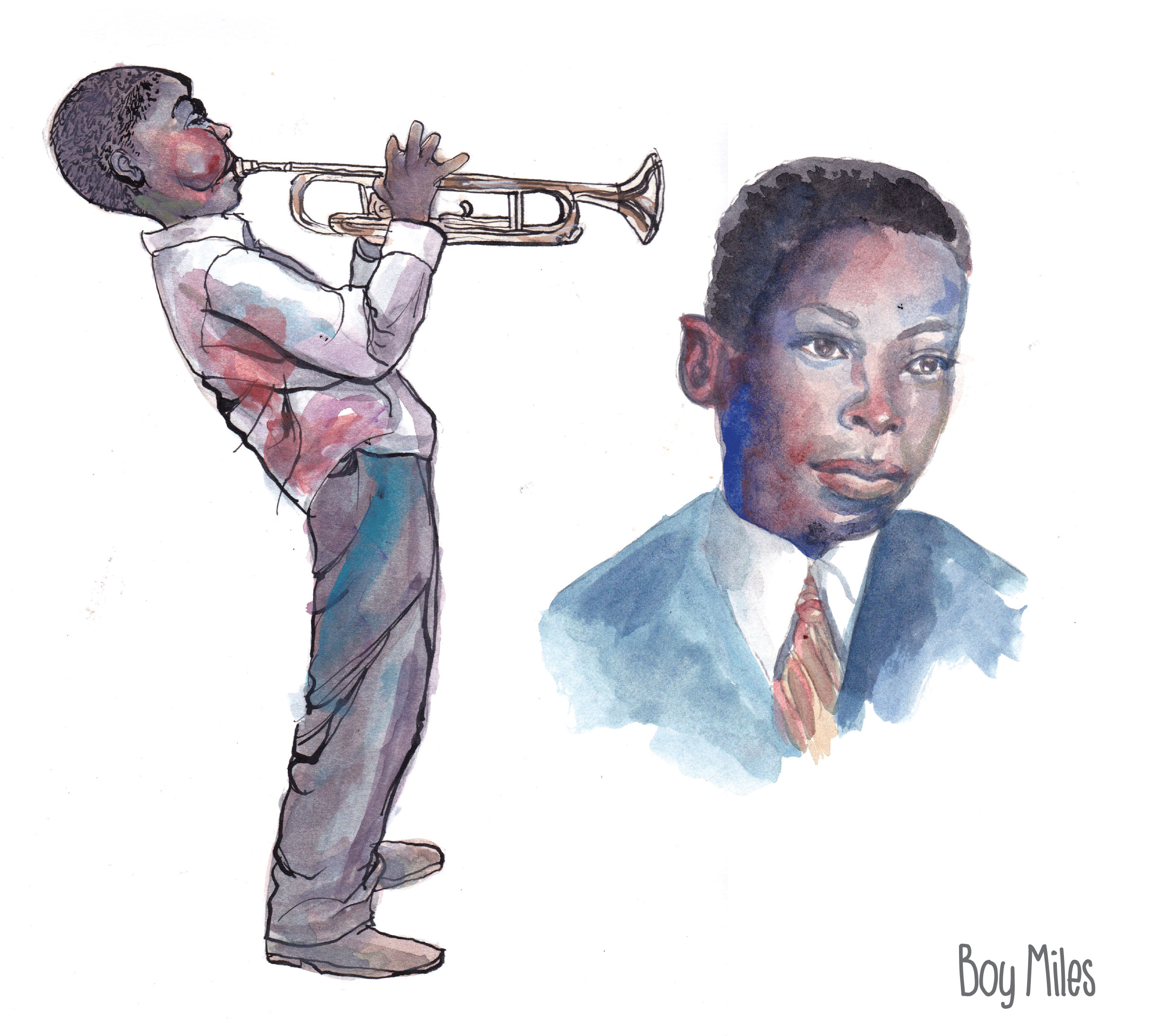 Miles Davis, Keith Henry Birth of The Cool character studies 2
