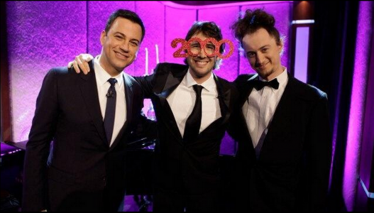 On Jimmy Kimmel Live with Josh Groban