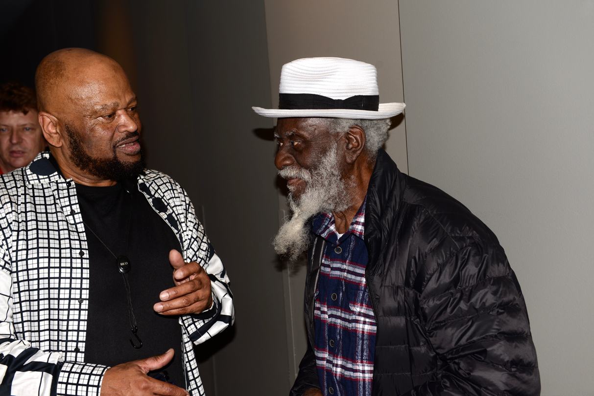 Azar Lawrence with Pharaoh Sanders at the Grammy Museum