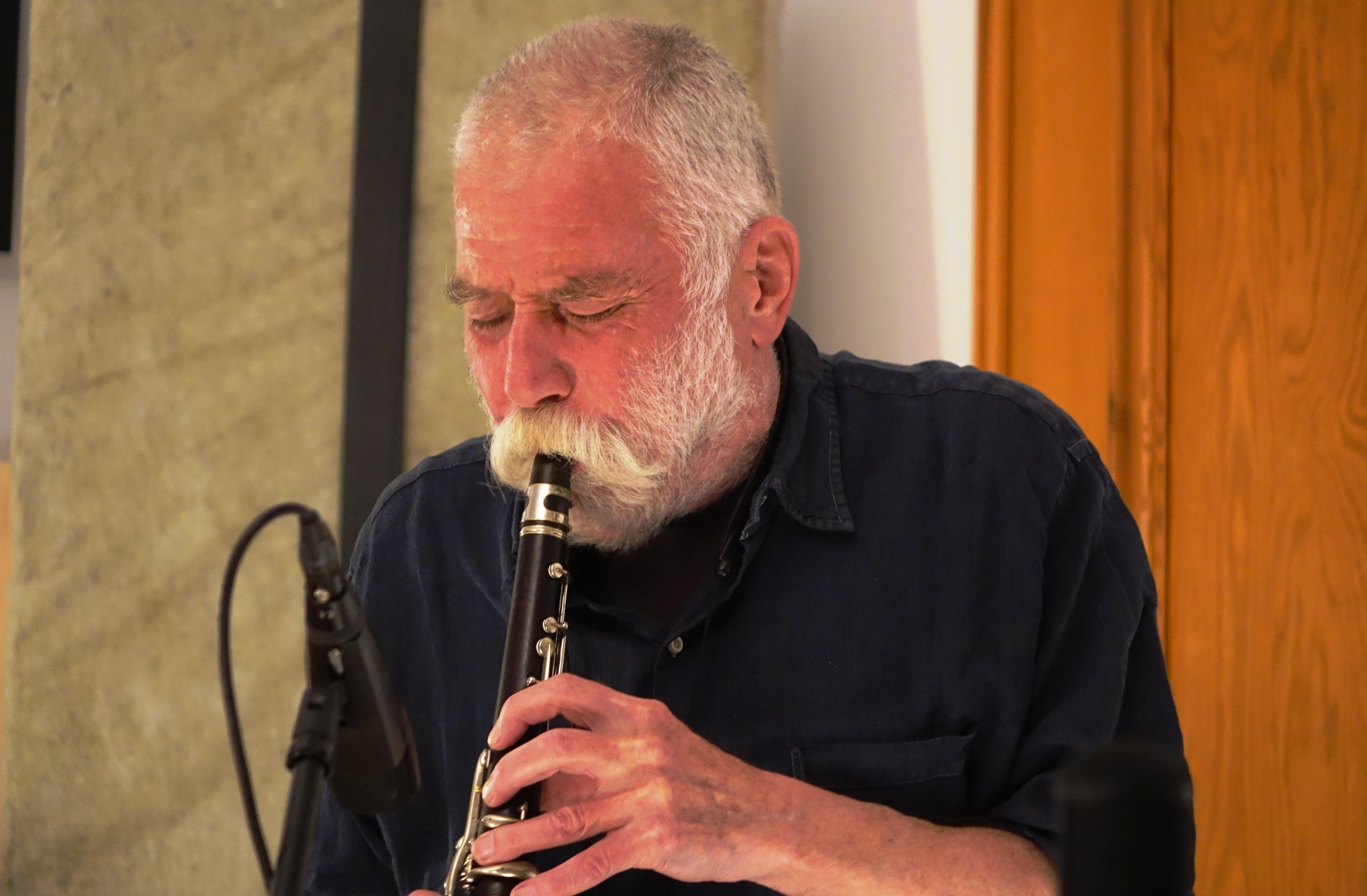Peter Brötzmann in Wlen, Poland in September 2018