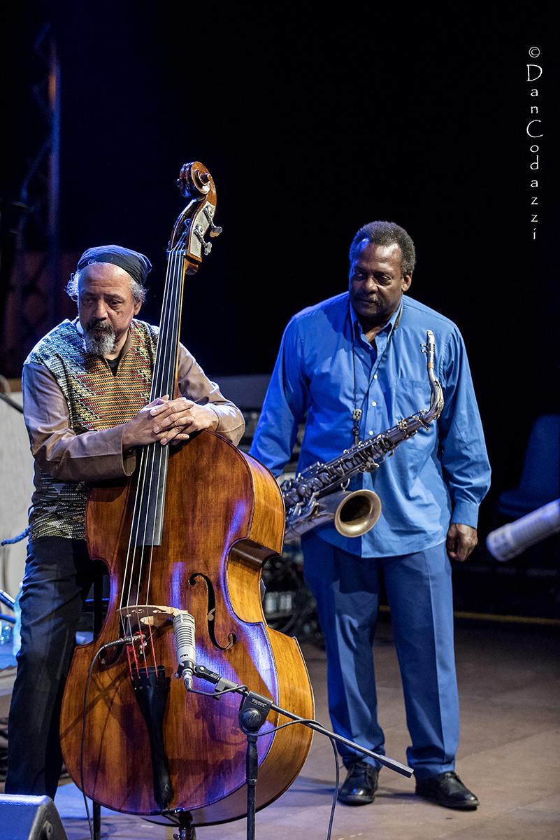 David Murray and Jaribu Shahid at Sant'Anna Arresi jazz Festival 2018