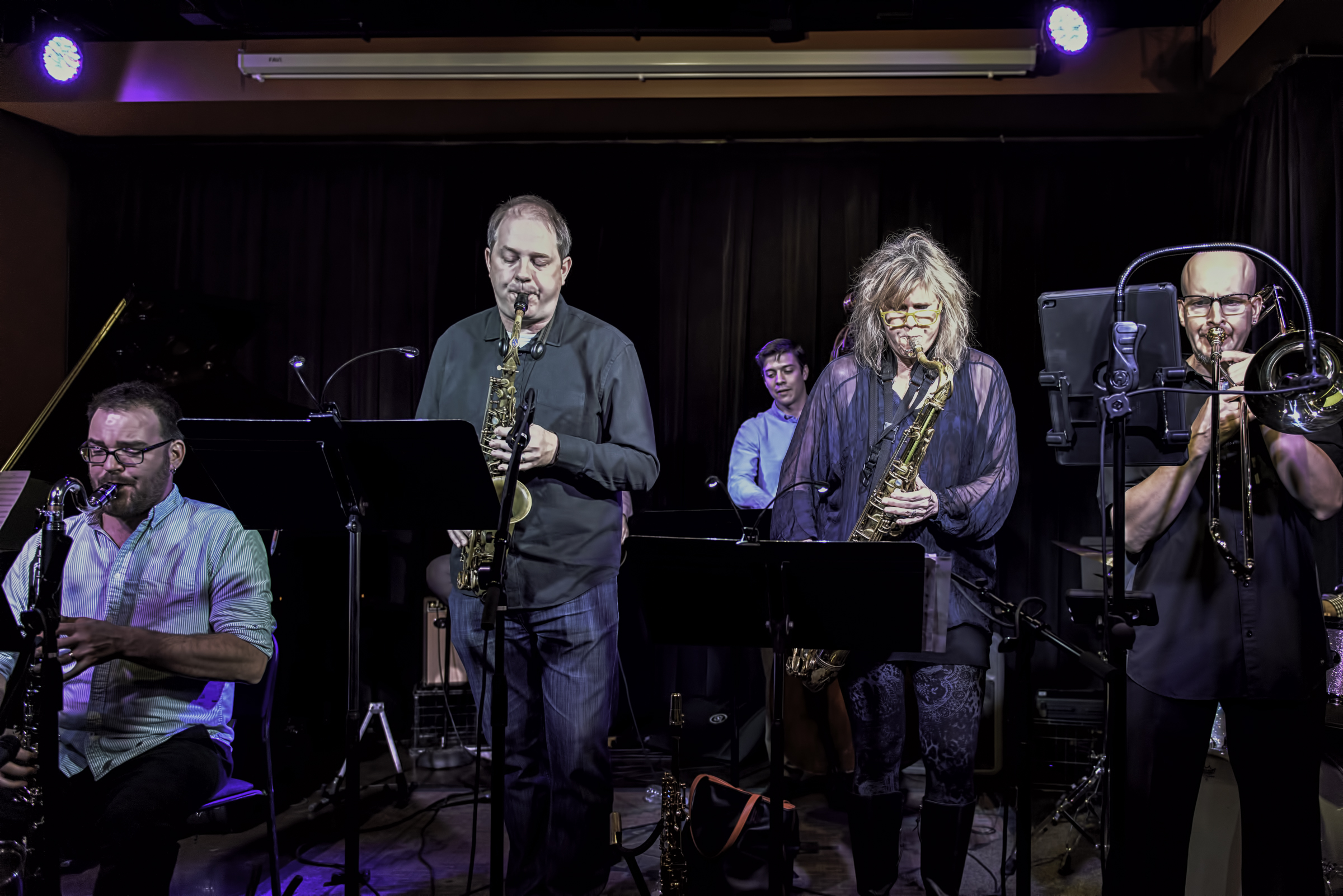 Will Goble, Keith Kelly, Mary Petrich, Eric Rasmussen And Steve Mcallister With Will Goble's Audiodrama Octet At The Nash.