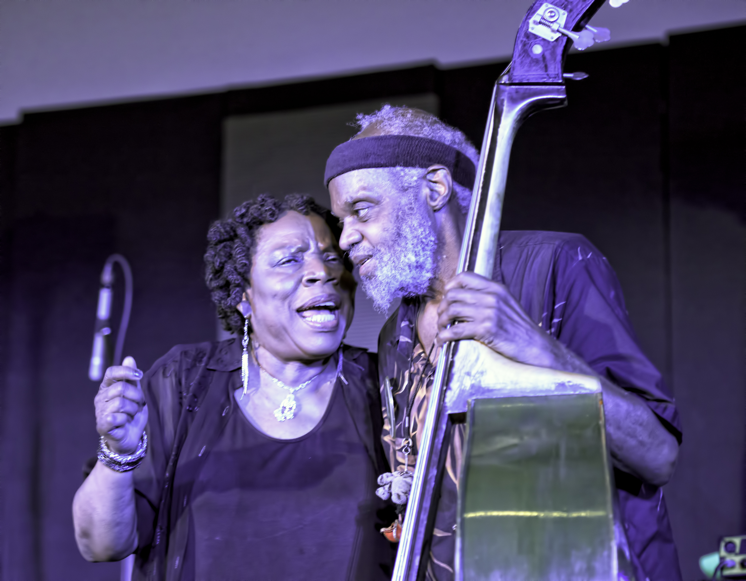 Amina Claudine Myers and Henry Grimes at the 20th Anniversary Vision Festival 2015
