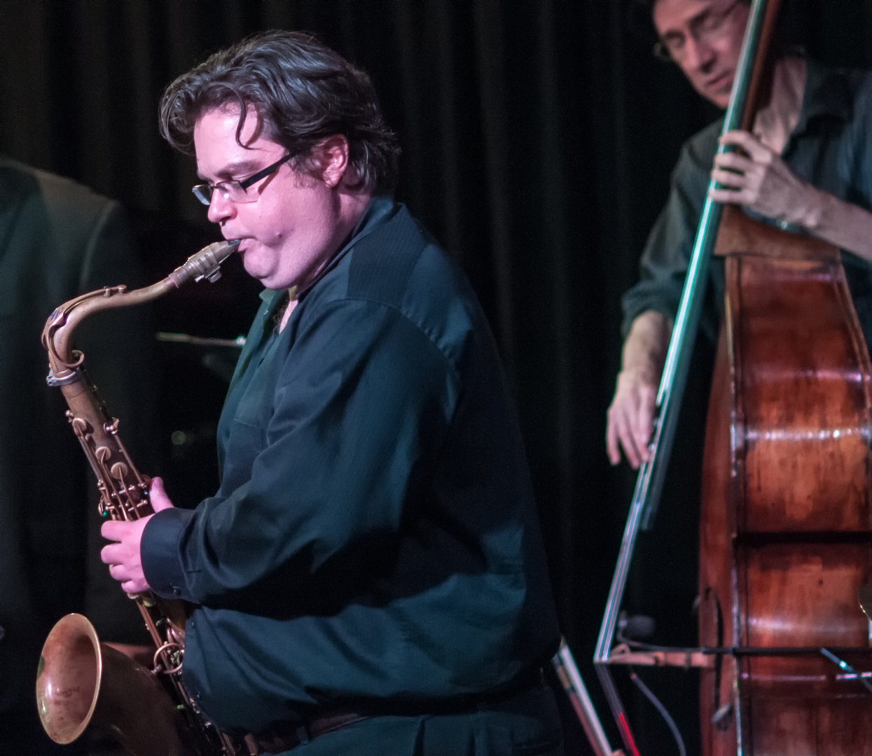 Andrew gross and ted 't'bone' sistrunk with dmitri matheny group jazz noir project at the nash in phoenix, arizona
