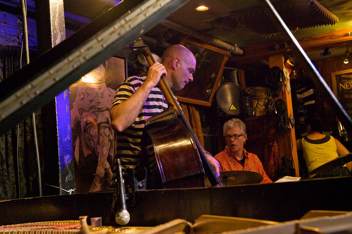 Joris Teepe and Matt Wilson at Small's Jazz Club, NYC, 7/19/12