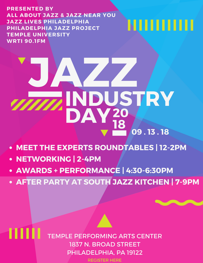 First Annual Jazz Industry Day Conference With Bootsie Barnes, Larry Mckenna & Cory Weeds Album Release Concert