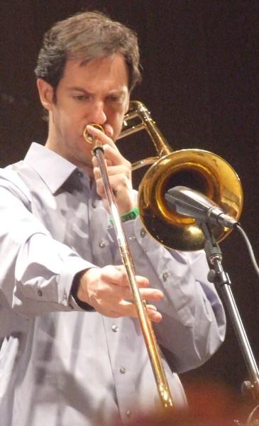 Joel Yennior with Either/Orchestra at 2010 Chicago Jazz Festival