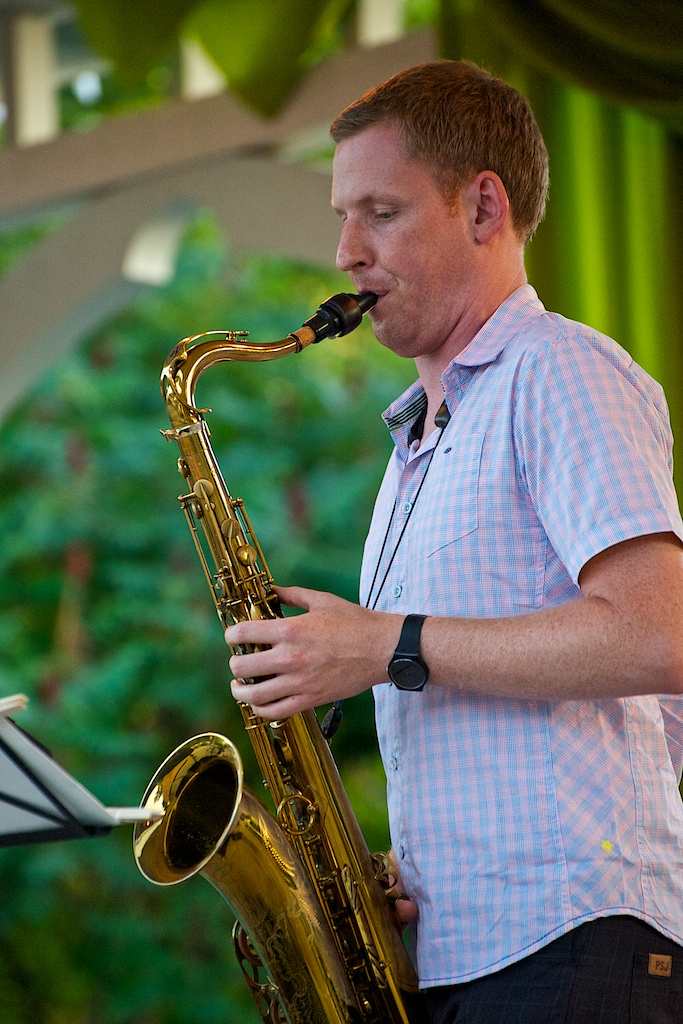 Trevor Hogg with the Tara Davidson Quintet - Markham Jazz Festival 2011