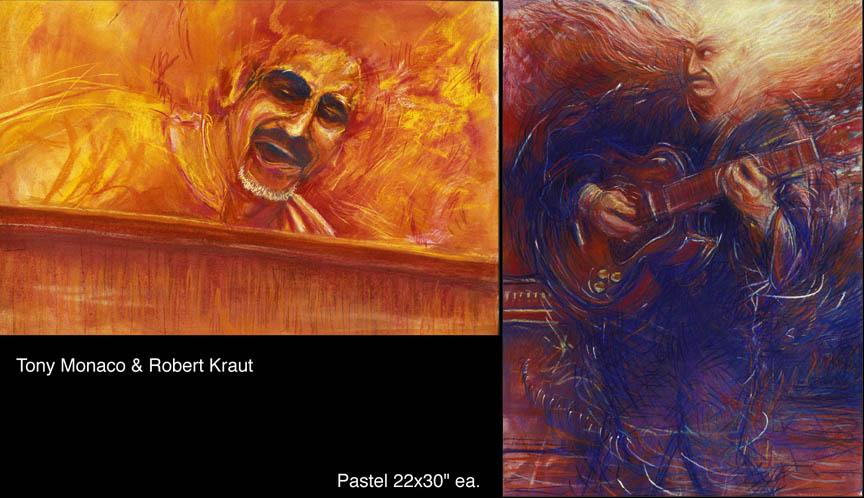 Tony Monaco and Robert Kraut Cover Art for Tony's Fiery Blues CD