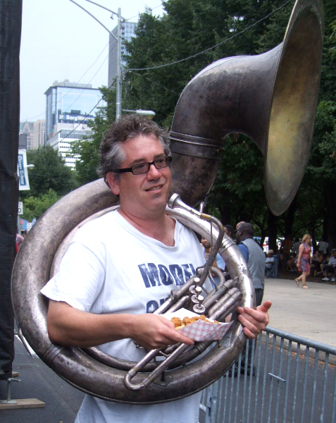 Dan Trudell Following Brian Ohern's Model Citizens Big Band at 2011 Chicago Jazz Festival