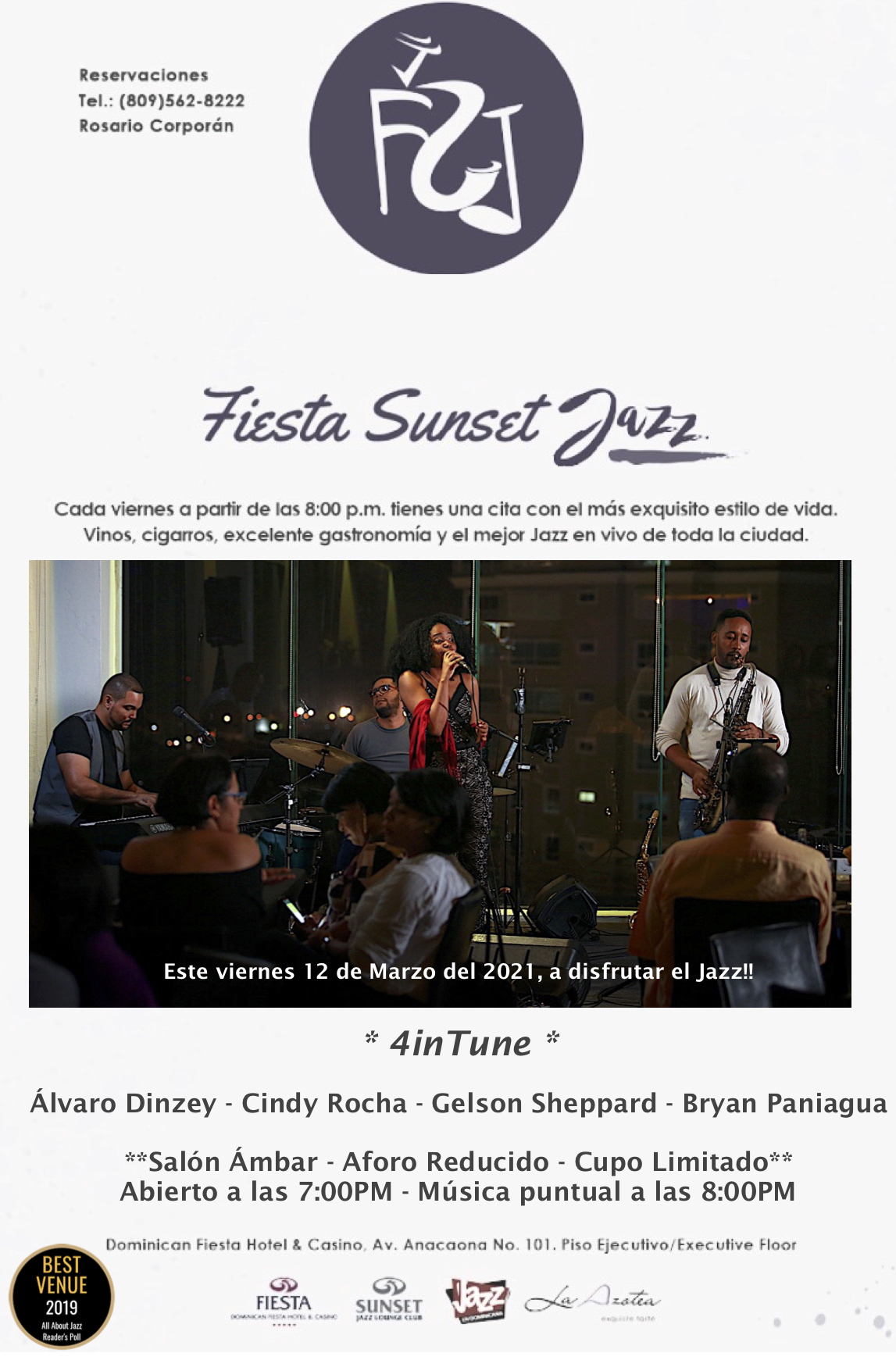 Fiesta Sunset Jazz Presents 4intune