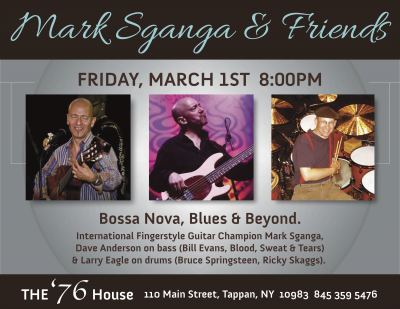 Mark Sganga's Bossa, Blues & Beyond at 76 House
