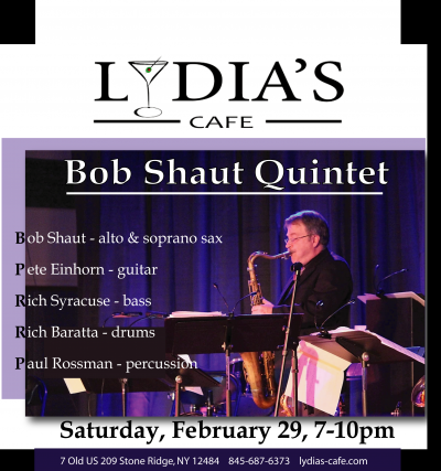 Bob Shaut Quintet at Lydia's Cafe