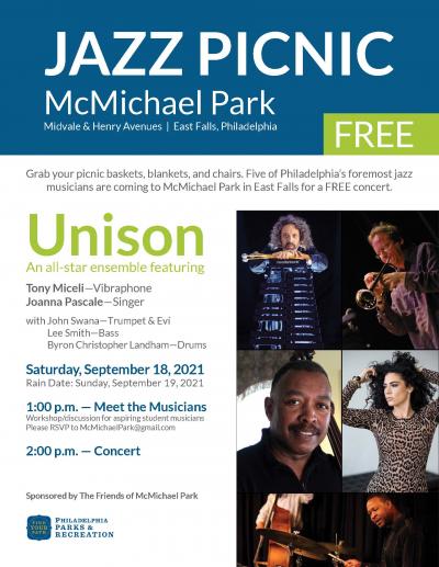 Jazz Picnic With Tony Miceli & Joanna Pascale at McMichael Park
