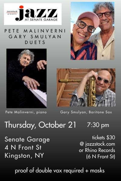 Pete Malinverni (piano) & Gary Smulyan (baritone Sax) Duets at Jazzstock at Senate Garage