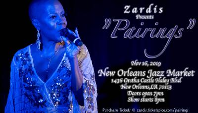 Zardis Presents Pairings at New Orleans Jazz Market