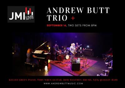 Andrew Butt Trio + at JMI Live