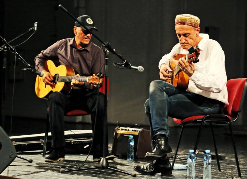 Vlatko Stefanovski and Miroslav Tadic at the Novi Sad Summer Music Festival