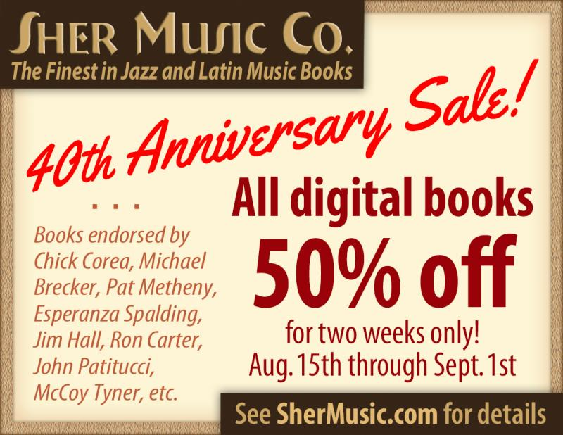 Sher Music's 40th Anniversary Sale runs from August 15th to September 1st
