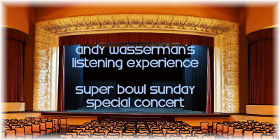 Andy Wasserman's SUPER BOWL SUNDAY holiday Concert at Transmedia Sound & Music