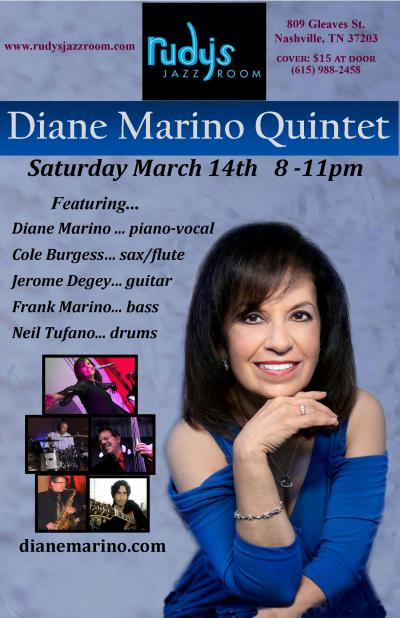 Diane Marino Quintet  at Rudy's Jazz Room