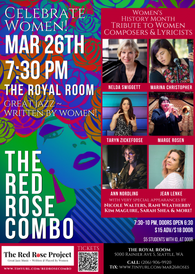 Red Rose Combo ~ Celebrate Women!  at The Royal Room