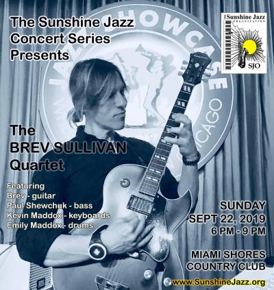 The Sunshine Jazz Concert Series Presents The Brev Sullivan Quartet at Miami Shores Country Club