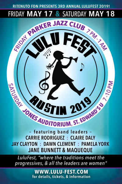 Jane Bunnett, Jay Clayton, Claire Daly and more at Lulufest at Jones Auditorium