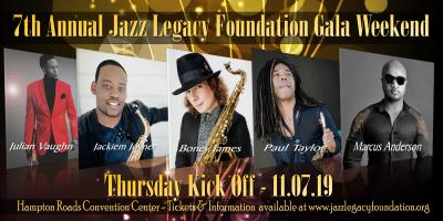 Boney James-paul Taylor-jackiem Joyner-marcus Anderson-julian Vaughan at Jazz Legacy Foundation Gala Weekend (jazz Fest) at Hampton Roads Convention Center