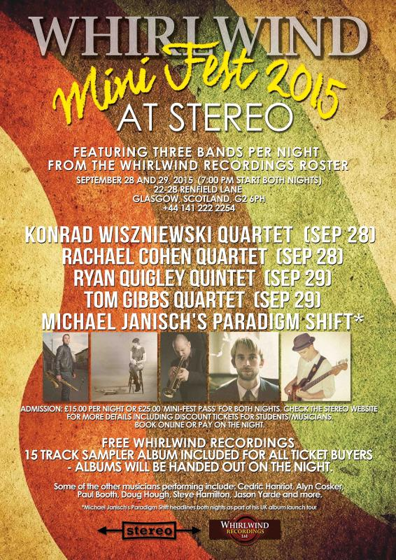 "Announcing The ""Whirlwind Mini Fest"" 28th And 29th September 2015, At Stereo In Glasgow, Scotland"