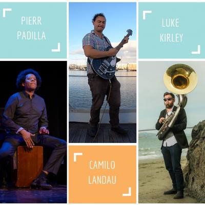 Pierr Padilla, Camilo Landau, Luke Kirley at Piedmont Piano Company