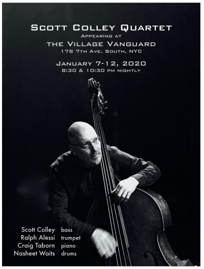Scott Colley Quartet Live At The Village Vanguard at Village Vanguard
