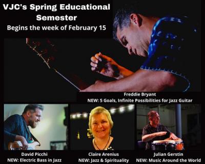 Vermont Jazz Center Spring Semester Classes at Vermont Jazz Center