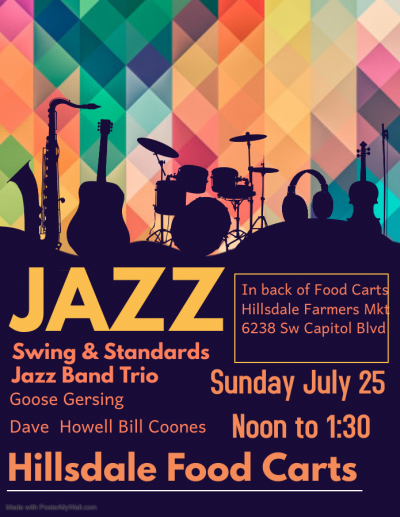 Swing & Standards Jazz Band Trio at Hillsdale Farmers Market