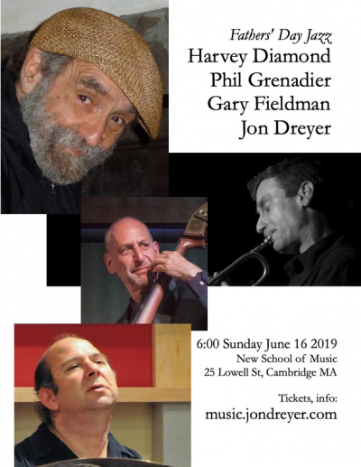 Fathers' Day Jazz: Harvey Diamond Quartet with Phil Grenadier, Jon Dreyer, Gary Fieldman at New School Of Music