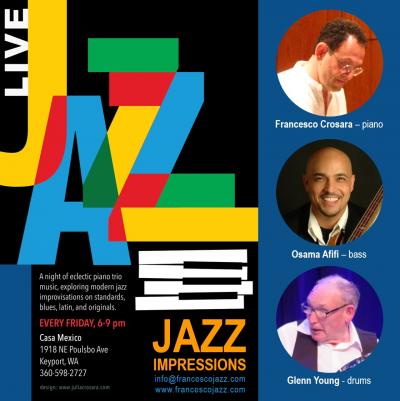 Jazz Impressions: Francesco Crosara, Osama Afifi, Glenn Young at Casa Mexico
