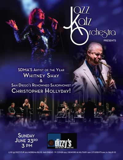 Jazzkatz Orchestra | Featuring Whitney Shay & Christopher Hollyday at Dizzy's