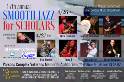 Jay Rowe Smooth Jazz For Scholars at Parsons Veterans Memorial Auditorium
