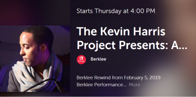 Kevin Harris Project: Roots, Water, And Sunlight, A Contemporary Octet Expedition Through The Expressions Of James Baldwin at Berklee Performance Center