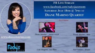 Diane Marino Quartet - Livestream at Rudy's Jazz Room