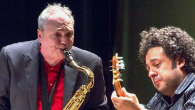 Diego Figueiredo And Ken Peplowski With Special Guest Chiara Izzi at Berkshire Gateway Jazz Weekend Festival at Lee Congregational Church