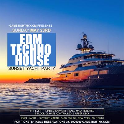 Edm Sunset Yacht Party Sunday Funday Cruise Skyport Marina Jewel Yacht 2021 at Skyport Marina