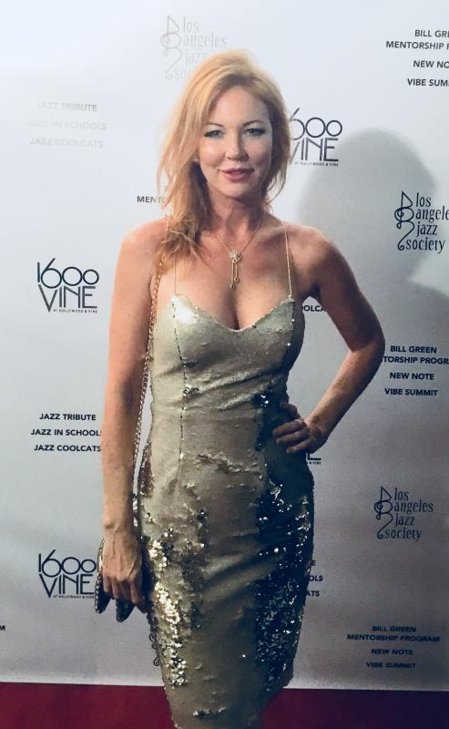 """Santa Baby"" Crooner Cynthia Basinet Attends L.A. Jazz Society Tribute Awards 2017"