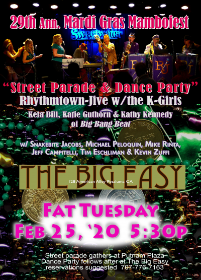 Rhythmtown-Jive And The K-Girls  at The Big Easy