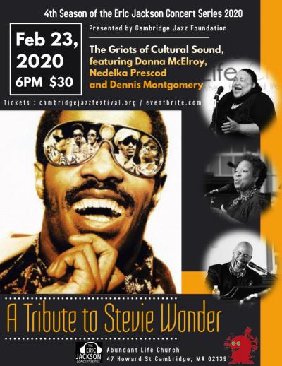 The Cambridge Jazz Foundation Presents: A Tribute To Stevie Wonder at Abundant Life Church