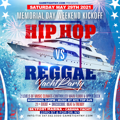 Nyc Mdw Hip Hop Vs Reggae® Sunset Cruise Skyport Marina Cabana Yacht at Skyport Marina