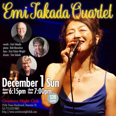 Emi Takada With Bob Henschen Trio at Ovations