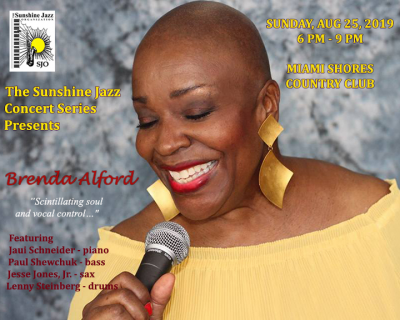 The Sunshine Jazz Concert Series Presents The Brenda Alford Quintet  at Miami Shores Country Club