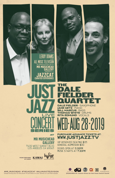 Dale Fielder Quartet at Just Jazz Live Concert Series