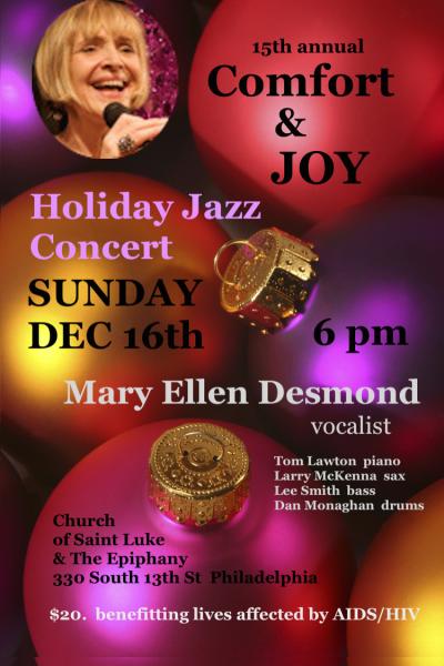 Mary Ellen Desmond's Comfort & Joy Holiday Jazz Concert at The Church Of Saint Luke & The Epiphany